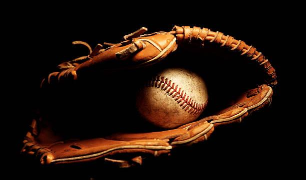 Baseball Glove with Ball stock photo