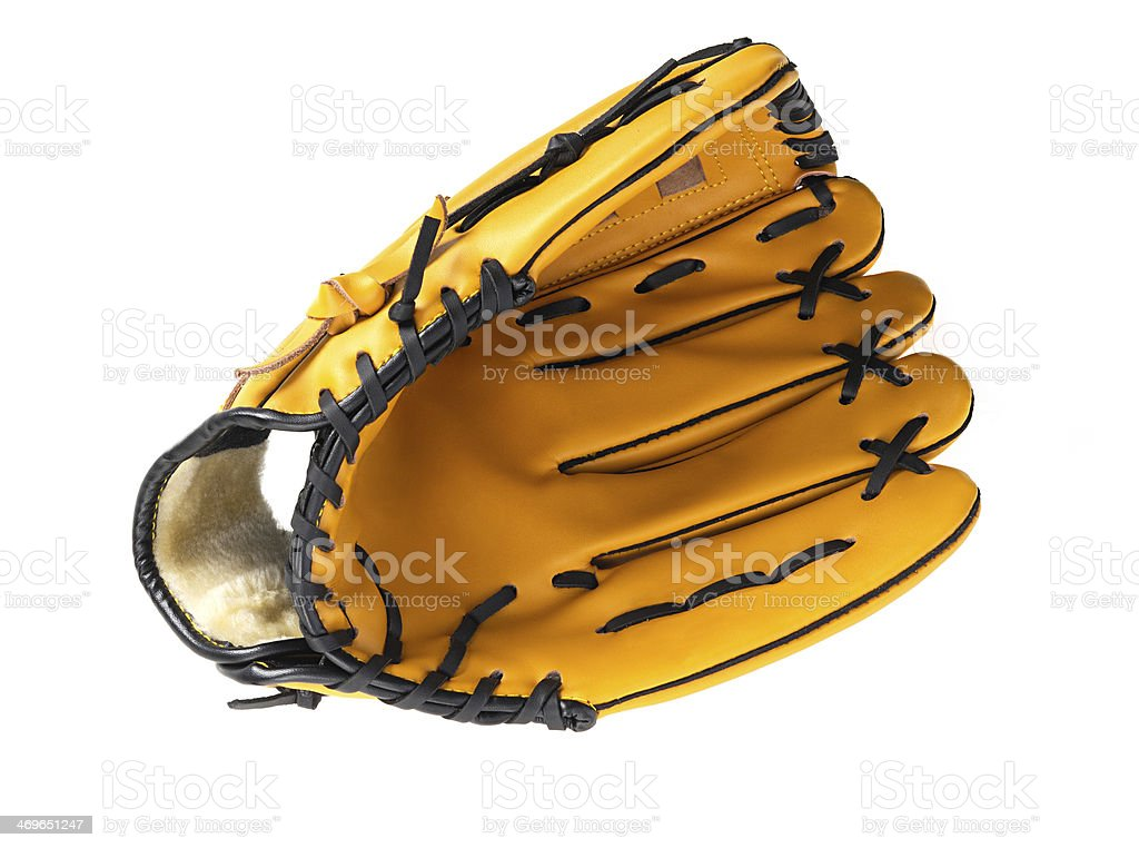Baseball glove without ball stock photo