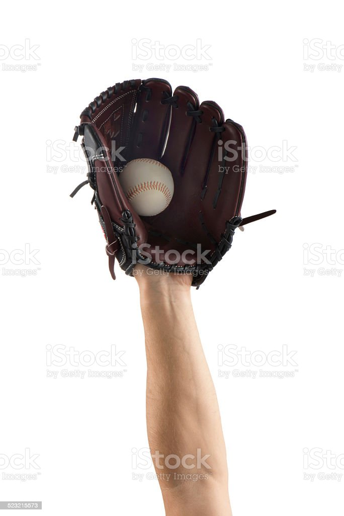 baseball gloves - sports equipments (Clipping path) stock photo