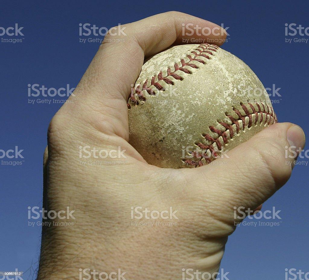 Baseball grip royalty-free stock photo