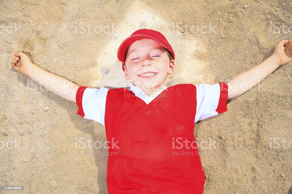 Baseball - Happy Boy royalty-free stock photo