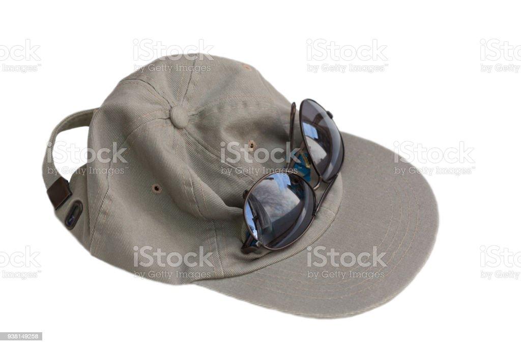 Baseball Hat and Sunglasses stock photo