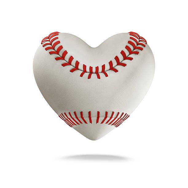Baseball heart stock photo