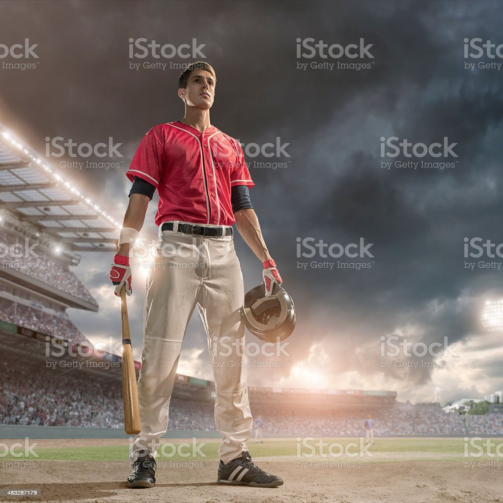 Baseball Hero stock photo