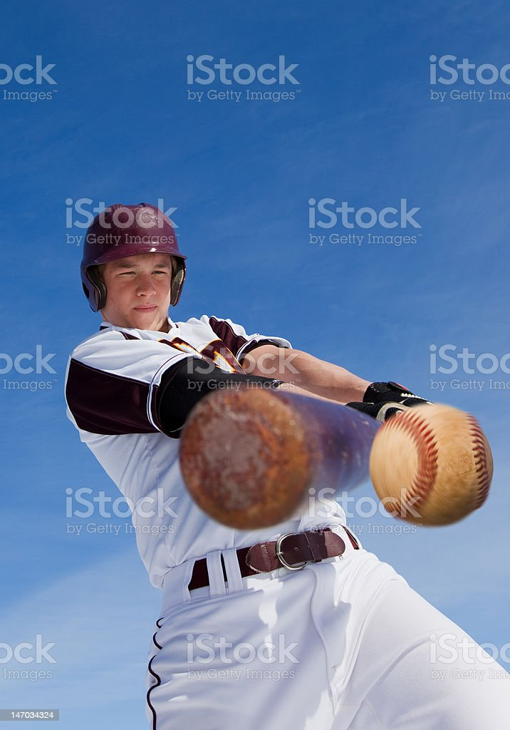 Baseball hit stock photo