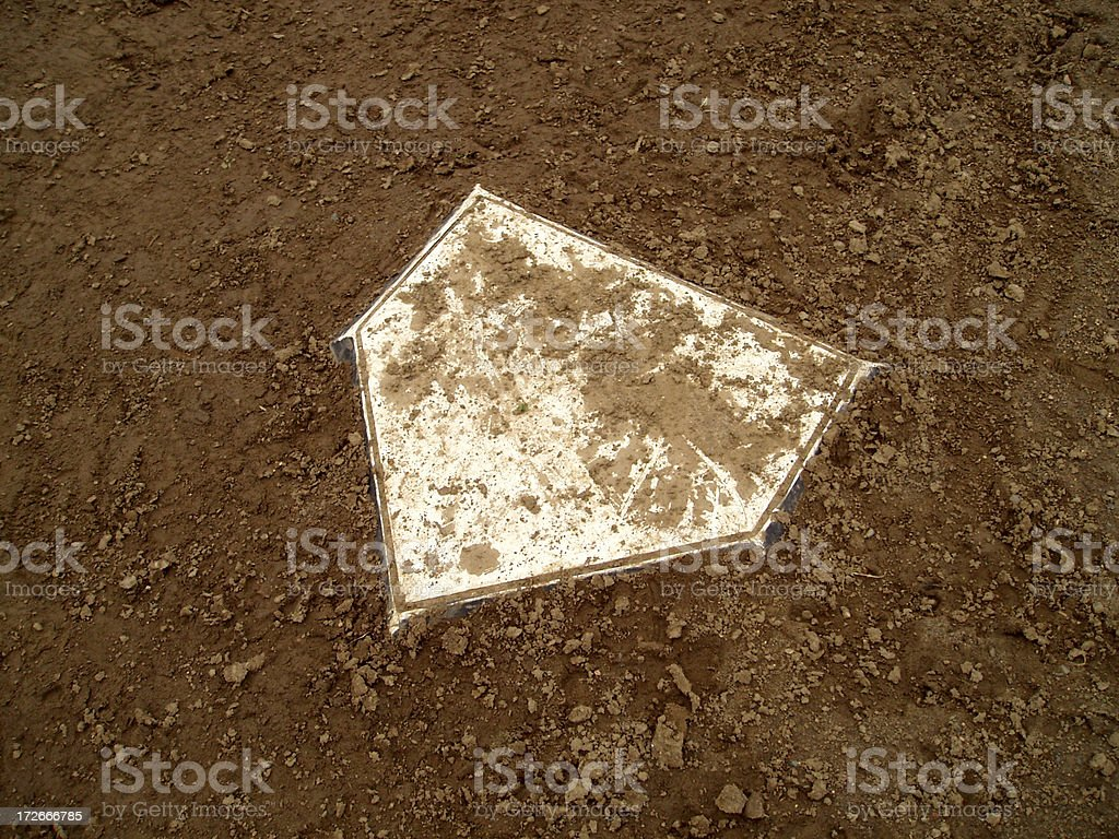 Baseball - Home Plate 2 royalty-free stock photo
