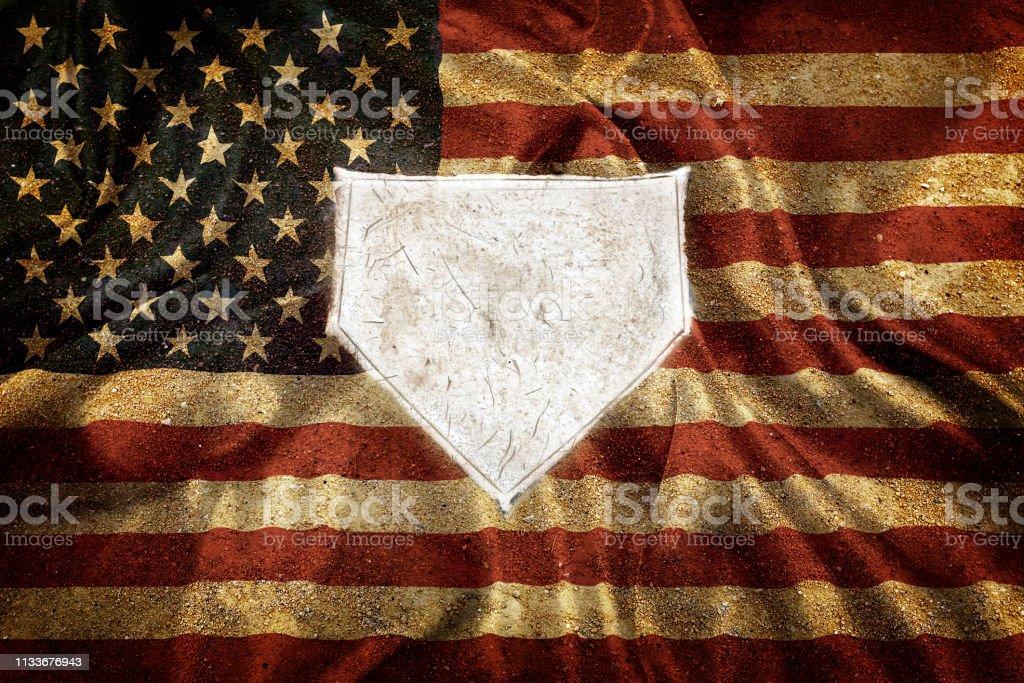 Baseball home plate base ball homeplate representing american sports...