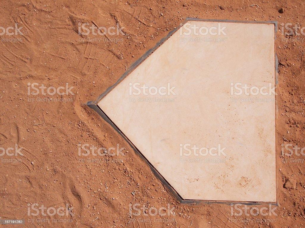 Baseball Home Plate royalty-free stock photo