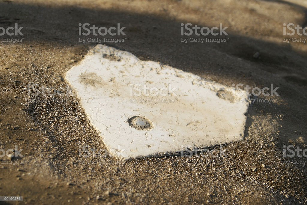 Baseball Home Plate royalty-free stock photo