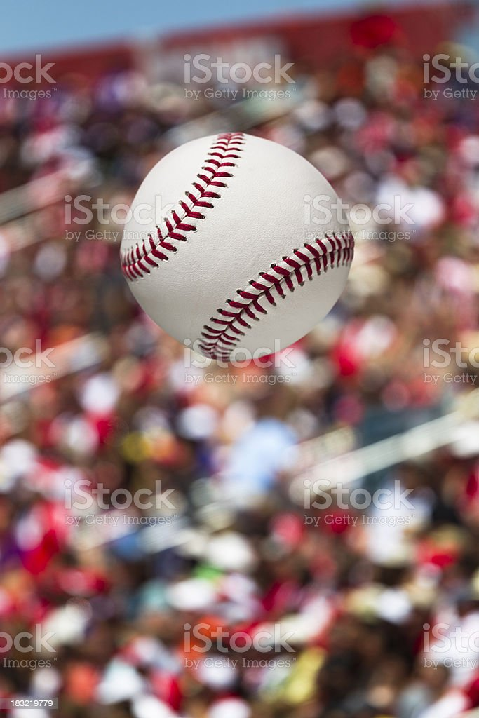 Baseball home run at the stadium stock photo