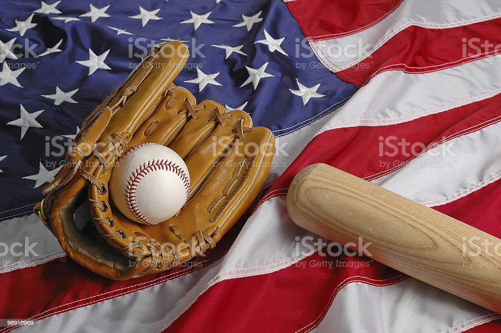 Baseball in America royalty-free stock photo