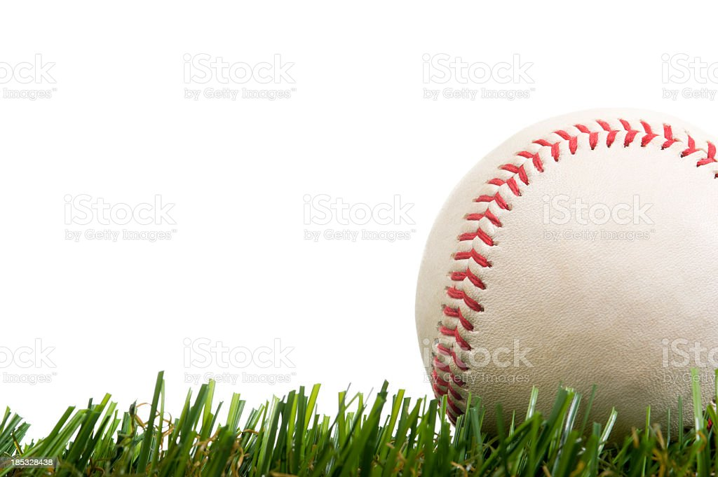 Baseball in Grass stock photo