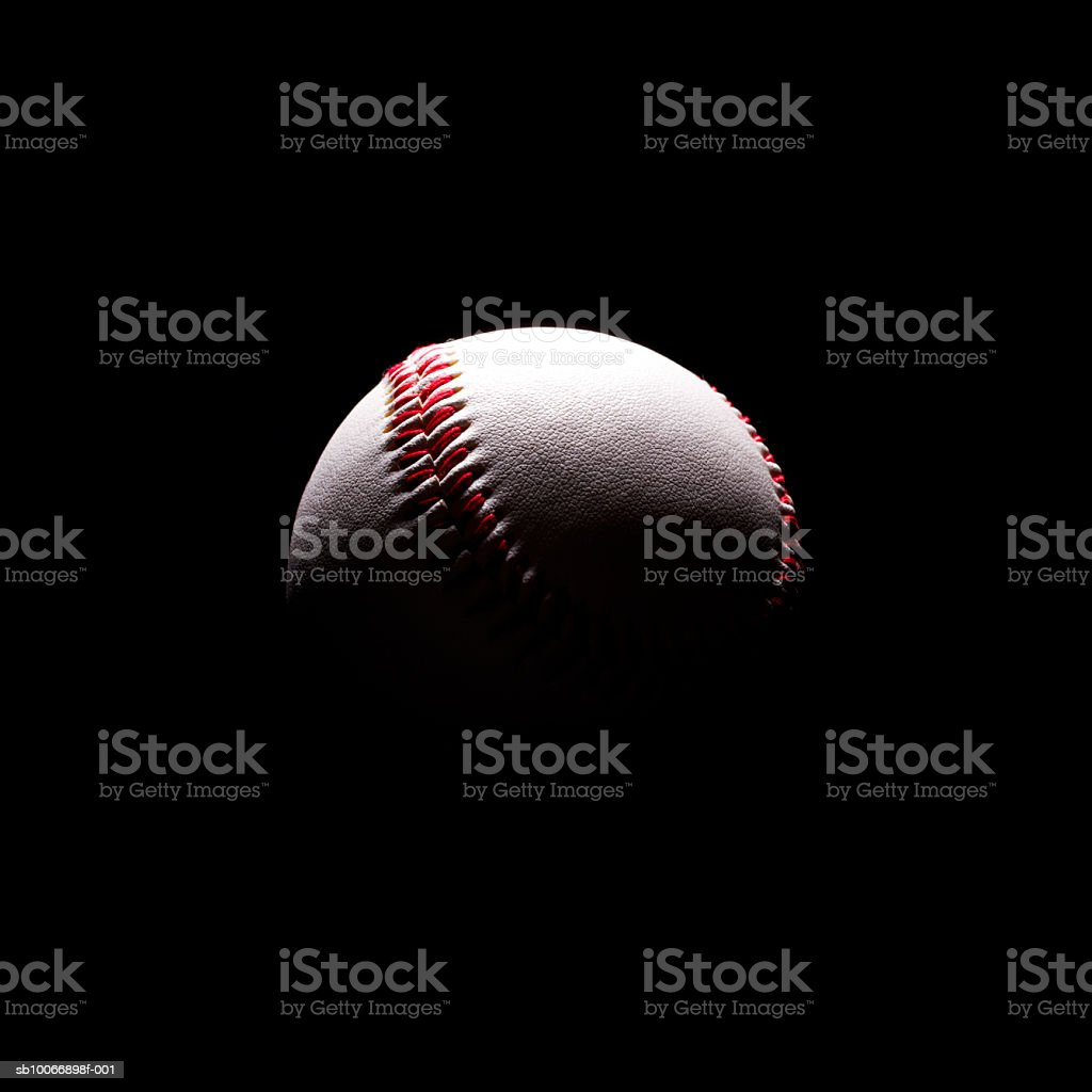 Baseball in shadows royalty free stockfoto