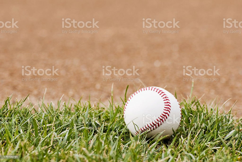 Baseball in the Infield 2 royalty-free stock photo