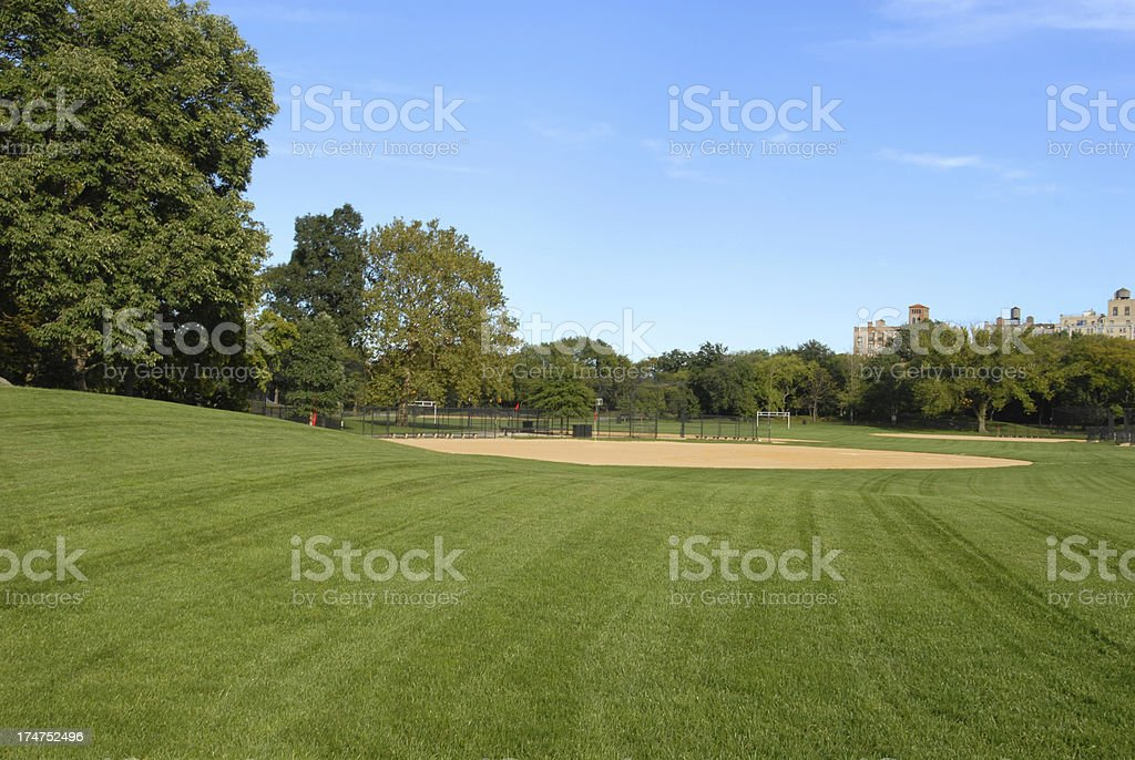 Baseball in the Park stock photo