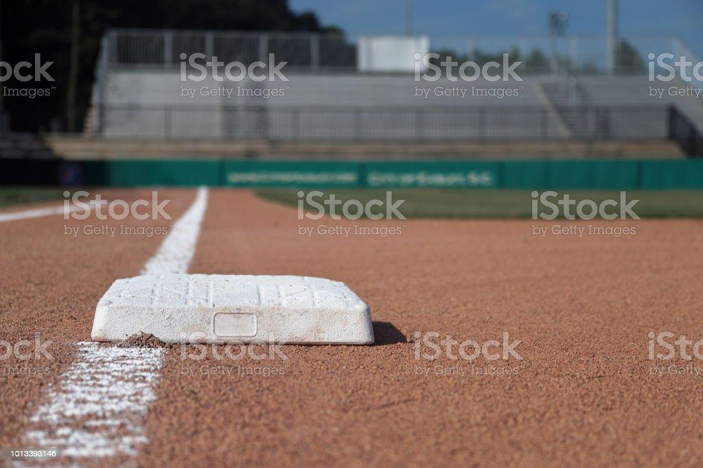 Baseball infield 1st base stock photo
