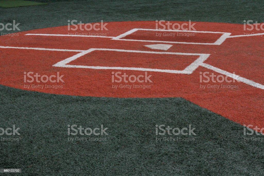 Baseball Infield at Home Plate stock photo