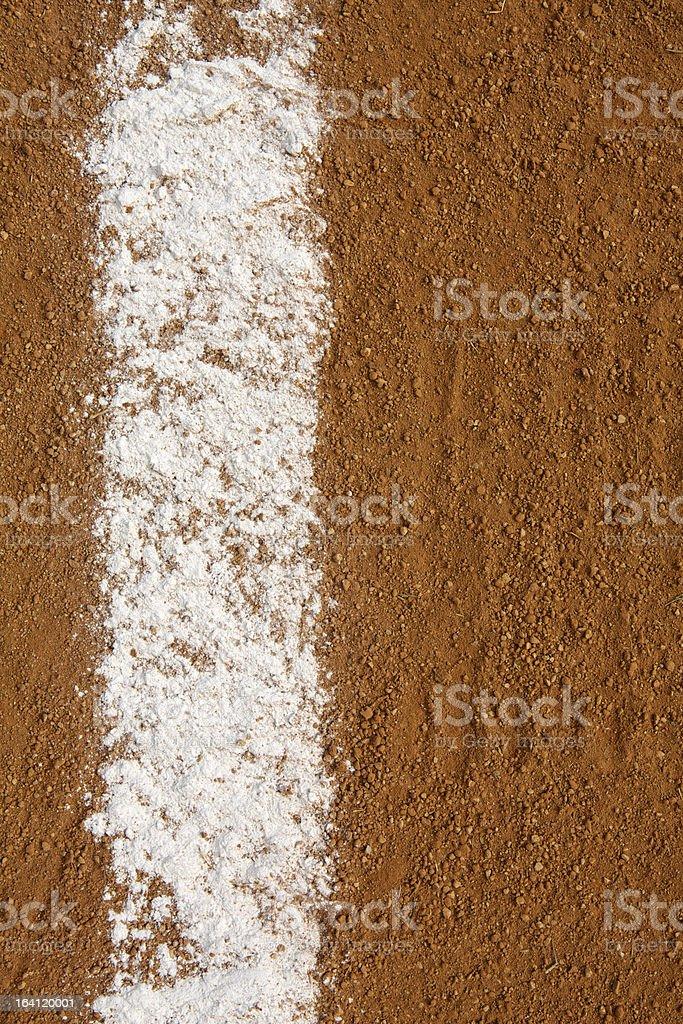 Baseball Infield Chalk Line royalty-free stock photo