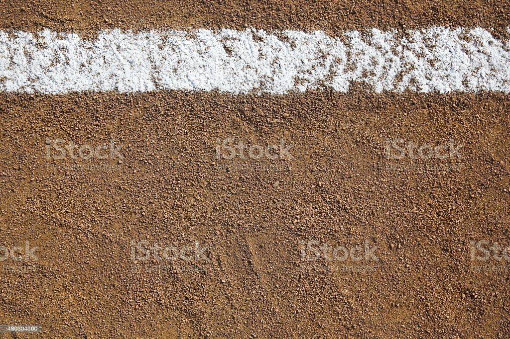 Baseball Infield Chalk Line stock photo