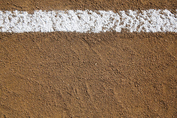 Baseball Infield Chalk Line Baseball Infield Chalk Line with room for copy and for Sports Background infield stock pictures, royalty-free photos & images