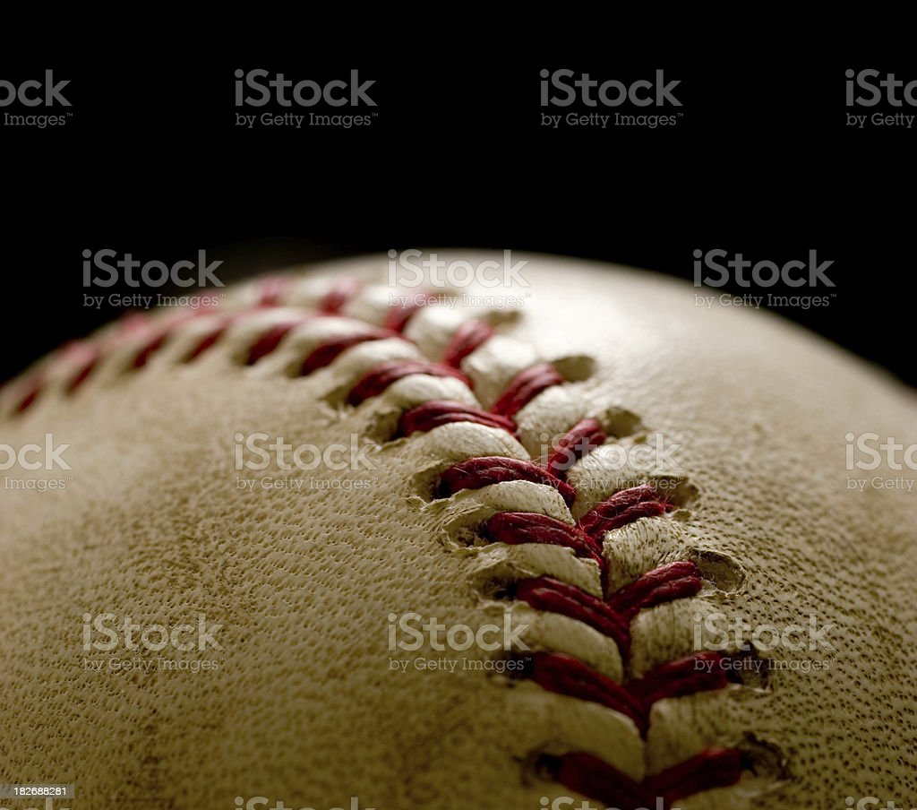 Baseball Isolated on a Black Background royalty-free stock photo