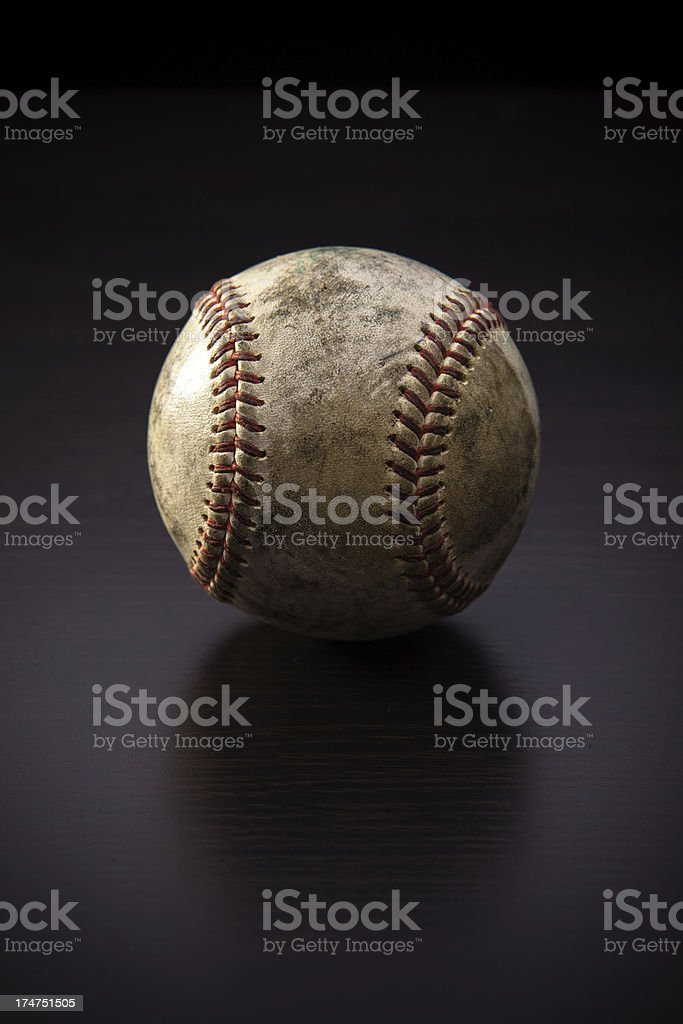 Baseball Isolated on Black royalty-free stock photo