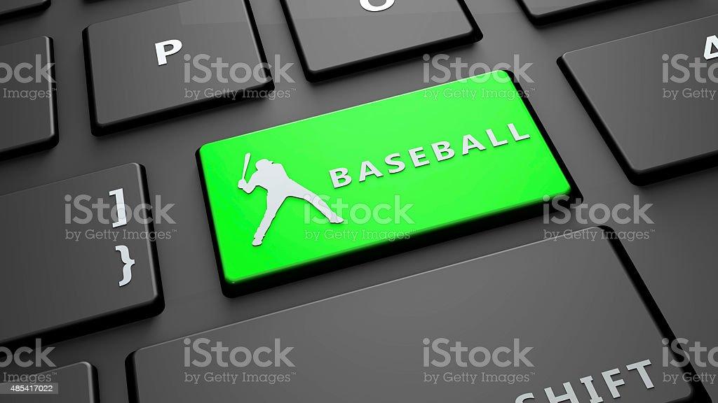 baseball keyboard key stock photo