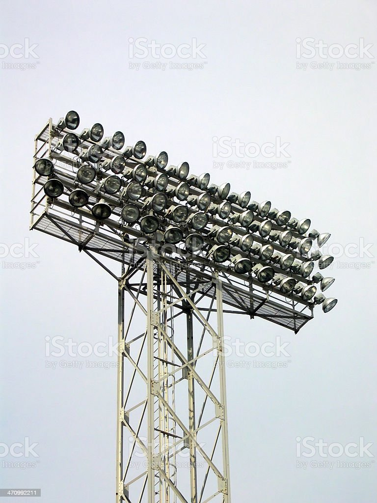 Baseball Lights royalty-free stock photo