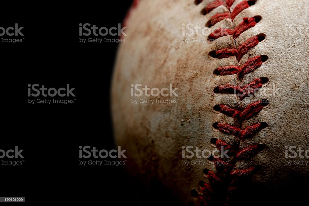 baseball macro over black stock photo