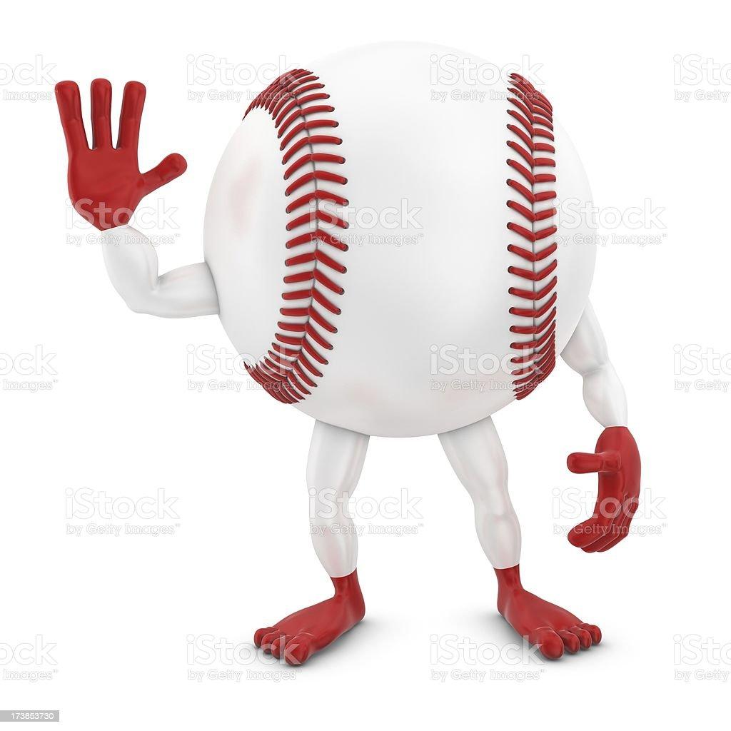 baseball man waving royalty-free stock photo
