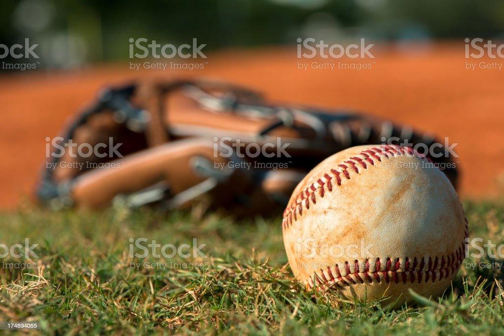Baseball Mitt Glove with Ball royalty-free stock photo
