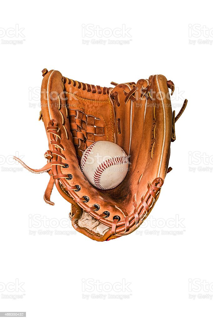Baseball mitt with glove stock photo
