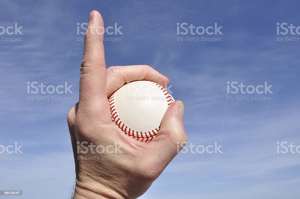 Baseball - Number One royalty-free stock photo
