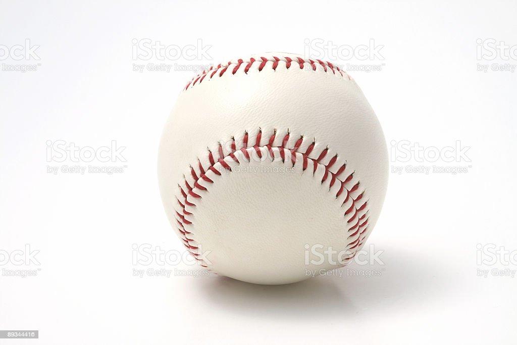 Baseball on a white background stock photo