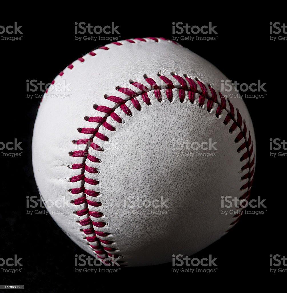 Baseball on black background stock photo
