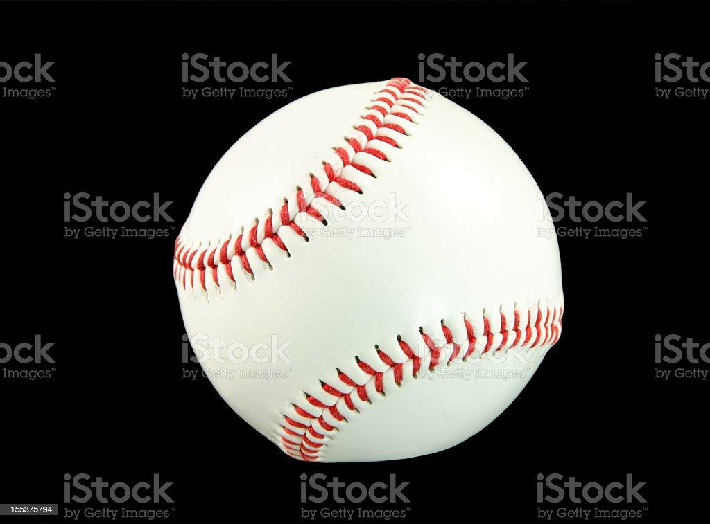 Baseball on Black royalty-free stock photo