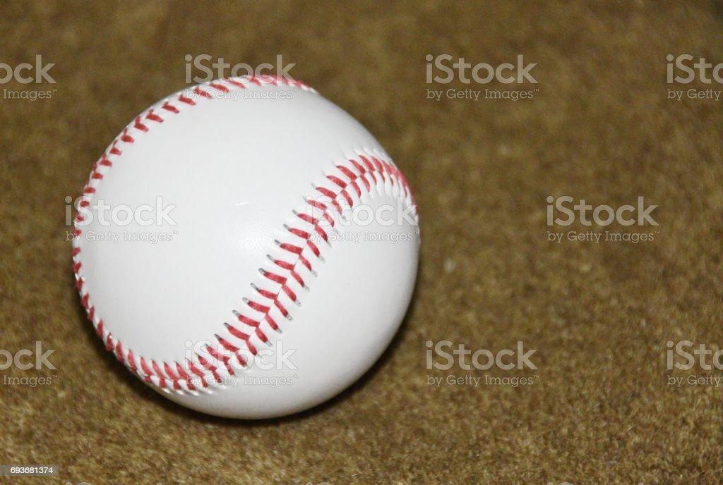 Baseball on Carpet stock photo