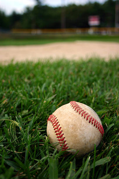 baseball on field - spring training stock photos and pictures