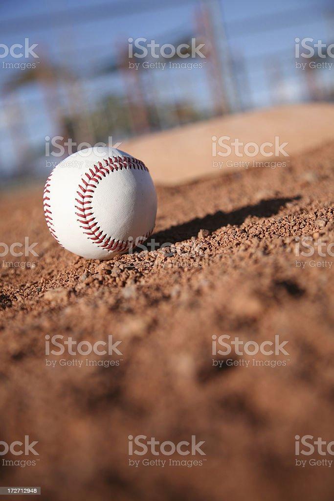 Baseball on field royalty-free stock photo