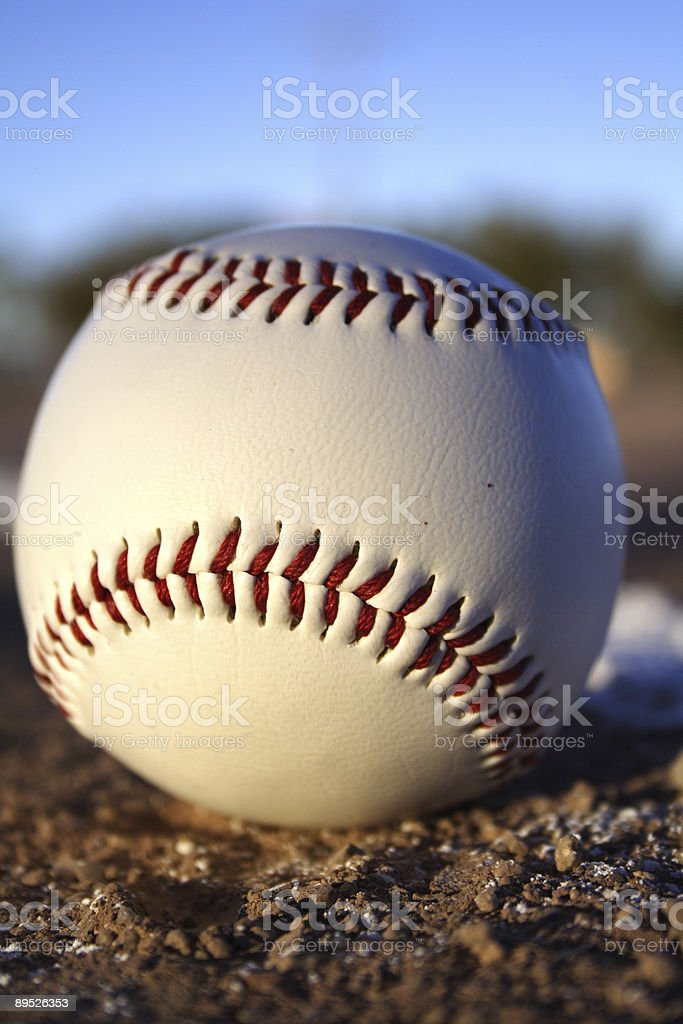 Baseball on field royalty-free stock photo