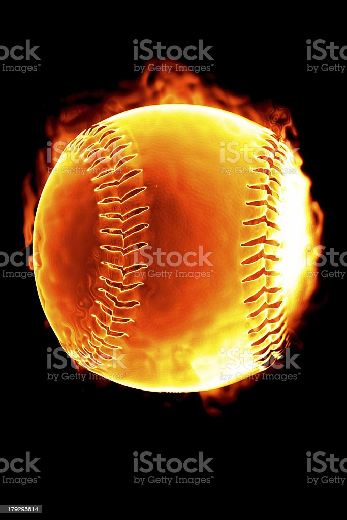 Baseball on fire (Hot serie) royalty-free stock photo