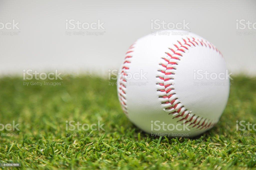 Baseball on grasses stock photo