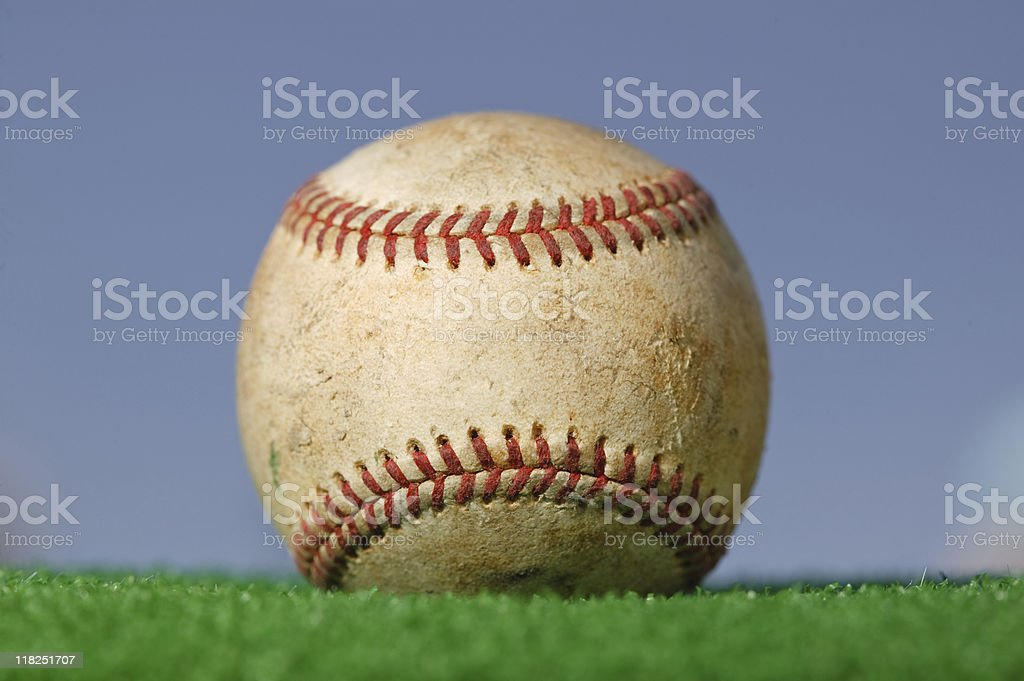 Baseball on Green Grass royalty-free stock photo