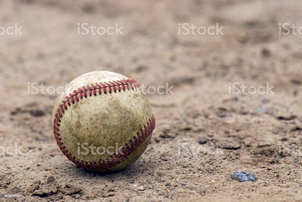 Baseball on School Ballfield royalty-free stock photo