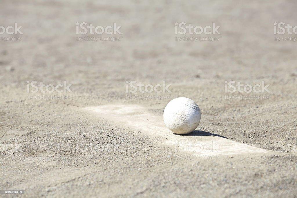 Baseball on the Pitchers Mound royalty-free stock photo