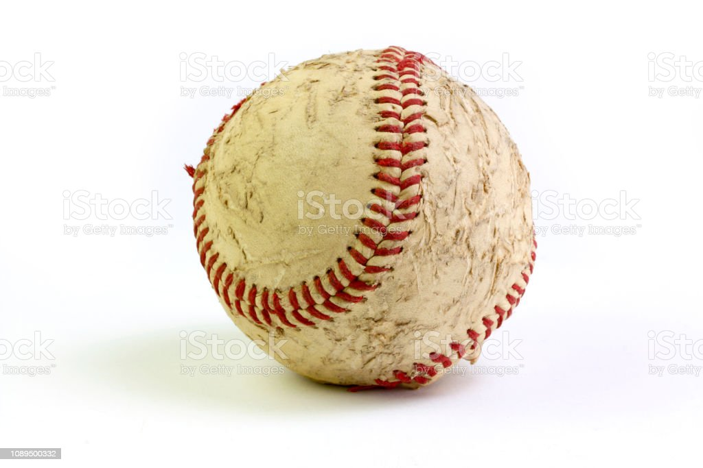 Baseball on white seamless background with clipping path stock photo