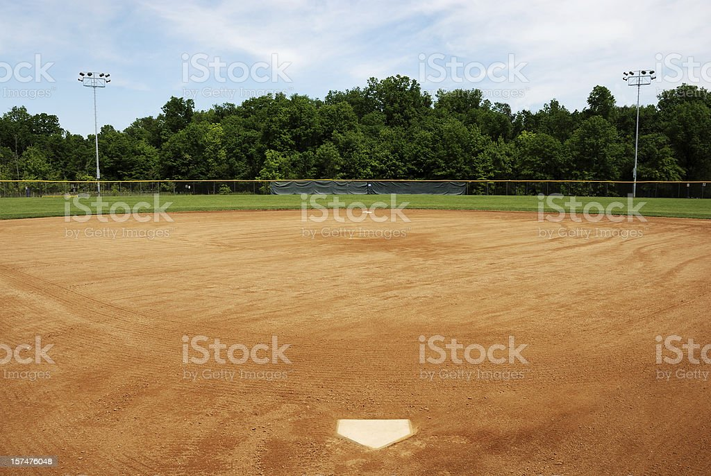 Baseball or softball field stock photo