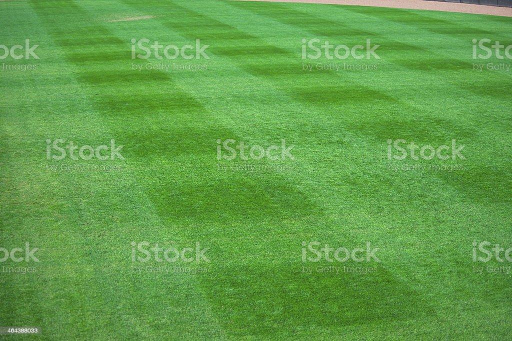 Baseball Outfield of Baseball Field at Baseball Game stock photo