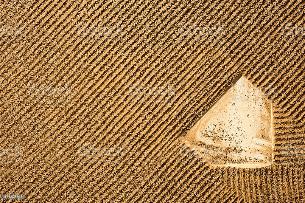 Baseball - Over Head View of Home Plate stock photo