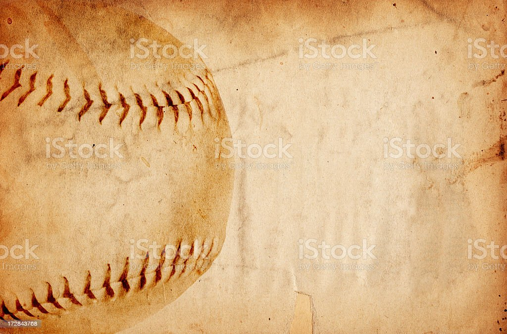 Baseball Paper XXXL royalty-free stock photo